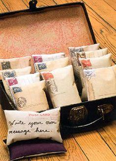 Postcard Sachets - What a wonderful Valentine keepsake