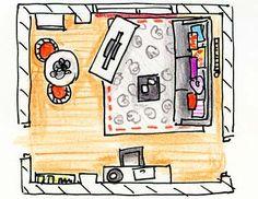 El salón de un apartamento