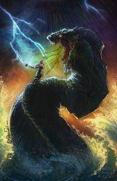 Jormungand: From the Banished Child to the Fearsome Midgard Serpent Like Odin, … – Norse Mythology-Vikings-Tattoo Rune Viking, Viking Art, North Mythology, World Serpent, Sea Serpent, Anglo Saxon Runes, Norse Legend, Les Runes, Symbole Viking
