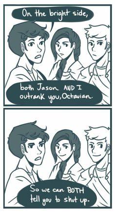 Jason Grace, Reyna, and Percy Jackson