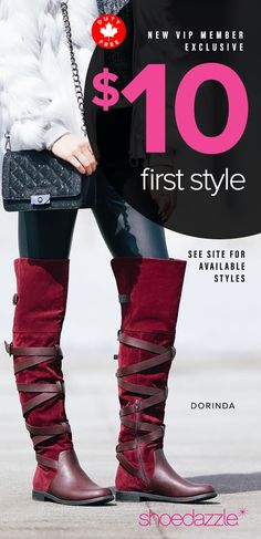 Hey Girl! December Styles are Here! - Get Your First Pair of Over The Knee Boots for Only $10! Take the 60 Second Style Quiz to get this exclusive offer!