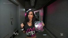 WWE AJ Lee: I love her look in this picture and don't thank me and you welcome anytime AJ Lee! Grant Gustin Singing, Nxt Divas, Aj Lee, Female Wrestlers, Professional Wrestling, Wwe Superstars, Cool Girl, Champion, Backstage