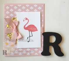 https://creationsinpaper.com/quick-easy-flamingo/     Designer Series Paper | Designer Series Paper cards | Patterned Paper | Patterned Paper cards |Stampin' Up | Stampin' Up cards | card making ideas | papercrafts |     You could easily recreate this card with any dsp or other stamped image.