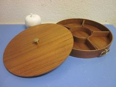 Huge Danish modern LIDDED BOX TEAK with compartments Denmark era Quistgaard