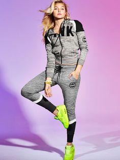 Skinny Collegiate Pant - PINK - Victoria's Secret-XS- COLORS: Light Marl Grey/Black, Black/ Heather Grey, or Marl Black/ Neon Green