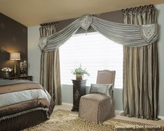 Bedroom Drapes And Curtains parts can add a touch of fashion and design to any home. Bedroom Drapes And Curtains can imply many things to many people… Curtain Designs For Bedroom, Bedroom Drapes, Small Room Bedroom, Drapes Curtains, Bedroom Decor, Scarf Curtains, Bedroom Ideas, Bedrooms, Valances