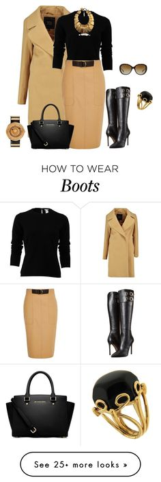 """""""outfit 3392"""" by natalyag on Polyvore featuring Oscar de la Renta, River Island, Versace, MICHAEL Michael Kors, Coach, Valentin Magro, women's clothing, women, female and woman"""