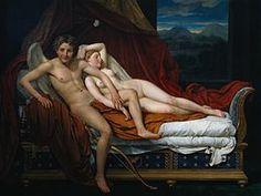 Cupido e Psyche Jacques-Louis David