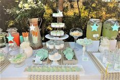 A gorgeous set up for a baby boy's dessert table! Dessert Tables, Baby Boy, Jar, Table Decorations, Photo And Video, Desserts, Instagram, Home Decor, Tailgate Desserts