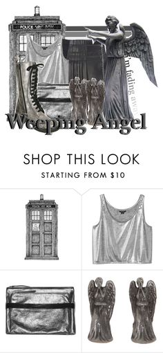 """""""Weeping Angel from Doctor Who"""" by infinity-starts-with-you ❤ liked on Polyvore featuring Balenciaga, Monki and MM6 Maison Margiela"""