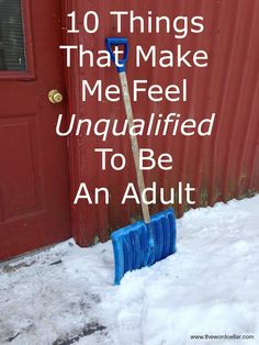 A little essay on my blog of things both ridiculous and serious: 10 Things That Make Me Feel Unqualified To Be An Adult.