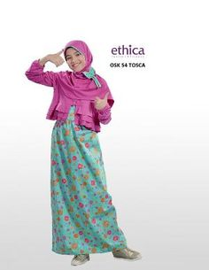 Baju Gamis Anak Ethica OSK 54 Toska