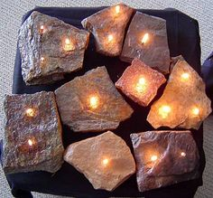 Rock candles   Great for outdoor entertaining