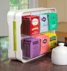 Tea bag organizer...love it, but wish it was made of something other than plastic.
