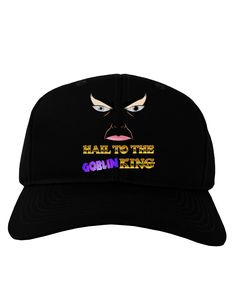 TooLoud Hail to the Goblin King Adult Dark Baseball Cap Hat