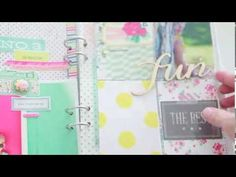 ▶ In The Mood To Scrap: Mini album with Elizabeth Kartchner (Two Peas in a Bucket) - YouTube