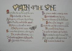 THE GARDEN OF THE SANE is an original poem I was commissioned to hand letter and illustrate. Title written in Visigothic Versals and illustrations of garden pests. Visigothic, Garden Pests, Poetry Books, Hand Lettering, Poems, Bullet Journal, Calligraphy, Illustrations, Writing