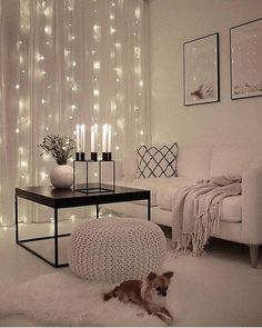 Holiday Lights behind sheer curtains in living room. #livingroom #holidaylights #christmasdecor #ChristmasLights