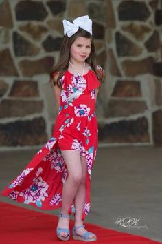 2018 Summer Angel Red Flower Girls Flay Away Maxie Romper with Dream C Baby African Clothes, African Dresses For Kids, Dresses Kids Girl, Teenage Girl Outfits, Kids Outfits, Indian Gown Design, Girls Occasion Dresses, Red Flower Girl, Sparkle Outfit