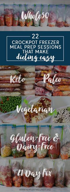 22 Crockpot Freezer Meal Prep Sessions That Make Dieting Easy