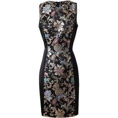 Jason Wu Floral brocade silk blend dress ($2,060) ❤ liked on Polyvore