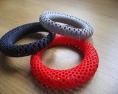 Juicy Red Tomato Polyoptic Bangle - 3d printed