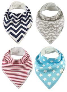 Baby Bandana Bibs by Zelda Matilda Extra Long Absorbent Adjustable Bib Made  of Organic Cotton and Fleece, for Teething Drool and Feeding - A Must Buy  To ...