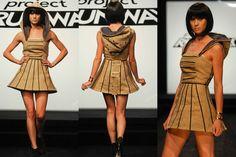 Love the hood attached to this fun dress from Project Runway season 7.