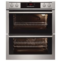 Buy AEG NC4013001M Double Built-Under Electric Oven, Stainless Steel Online at johnlewis.com