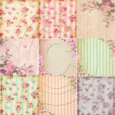 Shabby Chic Digital Paper Pack Scrapbooking Paper Decoupage Paper... ($3.13) ❤ liked on Polyvore featuring backgrounds, quotes, wallpaper, phrase, saying, text and texture
