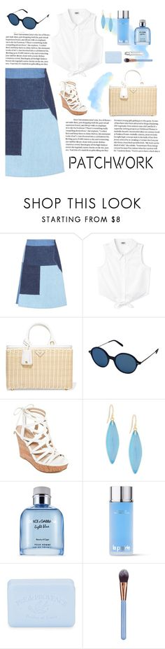 """""""Patchwork"""" by dere-dei ❤ liked on Polyvore featuring M.i.h Jeans, Prada, Oliver Peoples, GUESS, Alexis Bittar, Dolce&Gabbana, La Prairie, Pré de Provence and Luxie"""