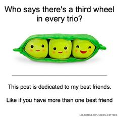 Who says there's a third wheel in every trio? This post is dedicated to my best friends. Like if you have more than one best friend
