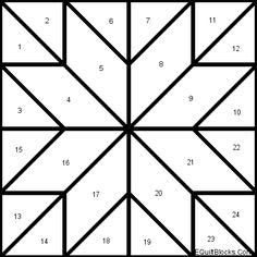 Quilt padrões livres de About.com Quilting