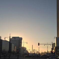gorgeous sunrise in Berlin
