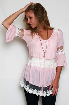 Romance in the Air Tunic, $49.50
