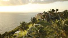 See beautiful views of the ocean below at Las Casitas Resort in Fajardo, Puerto Rico.