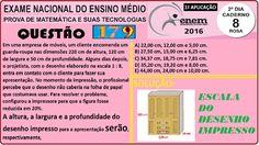 CURSO MATEMÁTICA ENEM 2016 QUESTÃO 179 PROVA ROSA RESOLVIDA EXAME NACION... https://youtu.be/qTiQq3wOU58