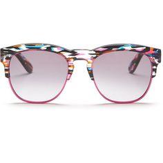WILDFOX Unisex Clubfox Deluxe Wayfarer Sunglasses featuring polyvore, women's fashion, accessories, eyewear, sunglasses, fireworks, wildfox eyewear, fox sunglasses, gradient lens sunglasses, wildfox sunglasses and wildfox