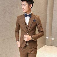 Spring 2016 New Men's Suits Casual Korean Version Of Self DP Solid Color  Khaki Cotton Fashion  TZ24-1DJ