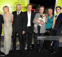 Actor Abbie Cornish, writer/director Martin McDonagh, producer Graham Broadbent, actors Christopher Walken, Linda Bright Clay, James Hebert  &  Bonny  the ShihTzu at the premiere of CBS Films' 'Seven Psychopaths' at Mann Bruin Theatre on October 1, 2012 in Westwood, California.