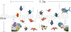 Finding Nemo Colorful fish Wall decal Removable stickers home decor kids nursery