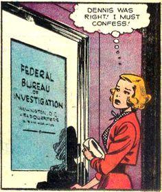 """Denisbwas right! I must confess!"" Vintage Comic, Pop Art"