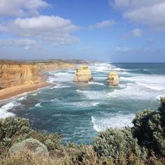 2 of what's left of the 12 apostles on the Great Ocean Road #12apostles #thegreatoceanroad  #roadtrip #coastal #victoria #beautifuldestinations by woody_rose http://ift.tt/1ijk11S