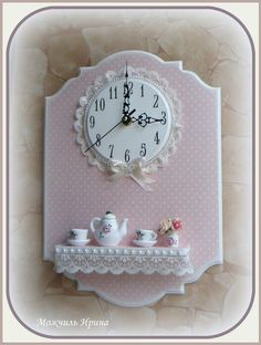 Новости: Craft Stick Crafts, Clay Crafts, Home Crafts, Diy And Crafts, Arts And Crafts, Traditional Clocks, Diy Clock, Miniature Crafts, Shabby Chic Decor