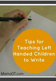 teaching left handed kids to write: grasp, stages, positioning - great post! Just in case ; Pre Writing, Kids Writing, Teaching Writing, Writing Skills, Teaching Tips, Writing Tips, Hand Writing, Learning To Write, Learning Activities