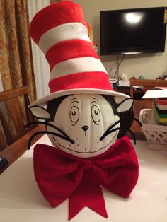 the cat in the hat pumpkin decoration by me - Pumpkin Decorations