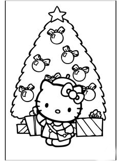 Hello Kitty Face Coloring Pages  Hello Kitty Christmas Ice
