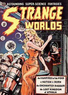 Strange Worlds cover, por Wally Wood