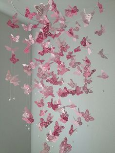 Pink/monarch-butterfly-chandelier-mobile