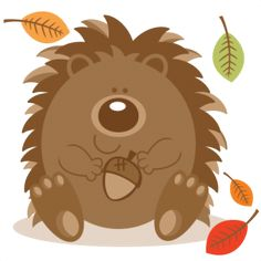 Daily Freebie 8-18-15: Miss Kate Cuttables--Hedgehog  With Acorn SVG scrapbook cut file cute clipart files for silhouette cricut pazzles free svgs free svg cuts cute cut files
